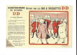 Deuxième  Grand Concours De  Buvards  DD  1954 -  Les  Phrases  Historiques  -  Offert  Par  Les  BAS  &  SOQUETTES  DD - Buvards, Protège-cahiers Illustrés