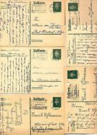 DR  P181 I  10 Postkarten Hamburg 1928-31  Div. Stpl.  Kat. 10,00 € - Deutschland