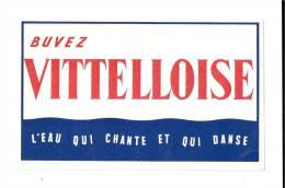 Buvez  VITTELOISE  L´  Eau  Qui  Chante  Et  Qui  Danse - Buvards, Protège-cahiers Illustrés