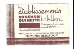 CONCHON  QUINETTE  Habille  L´ Homme, La  Femme, L´ Enfant  .  Chemiserie,  Bonneterie - Buvards, Protège-cahiers Illustrés