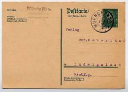DR  P183IF Frage-Postkarte München- Ludwigslust 1931  Kat. 5,00 € - Deutschland
