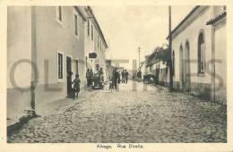 PORTUGAL - ALVEGA - RUA DIREITA - 1940 PC - Santarem