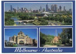 AUSTRALIA - MELBOURNE VIEWS / TRAM / THEMATIC STAMP-ELEPHANTS-RHINO - Melbourne