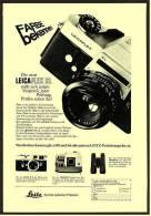 Reklame Werbeanzeige 1968 ,  Leitz Kamera  LEICAFLEX SL  -  Farbe Bekennen - Photographica