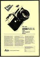 Reklame Werbeanzeige 1968 ,  Leitz Kamera  LEICAFLEX SL  -  Steht Zum Vergleich Bereit - Photographica