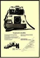 Reklame Werbeanzeige 1969 ,  Leitz Kamera  LEICAFLEX  Teamwork Leicalike - Photographica