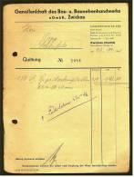 1952 Qittung Zwickau - Von Genossenschaft Des Bau- U. Baunebenhandwerks E GmbH - Deutschland
