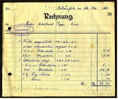 1952 Rechnung Schönfels / Sa. Bei Zwickau - Von Johannes Wetzel Dekorationsmalerei - Deutschland