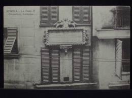 GENOVA La Casa Di Cristoforo Colombo - Non Viaggiata Formato Piccolo - Genova