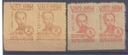 1948. North Vietnam, President Ho Chi Min, 2v In 2 Strips, Mint/** - Vietnam