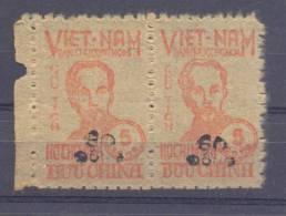 "1956. North Vietnam, Overprint ""50D"" On Stamp President Ho Chi Min,  Strip Of 2v, Mint/** - Vietnam"