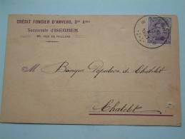 Crédit FONCIER D'Anvers Sté Ame - Succursale D'ISEGHEM Anno 12 Oct 1921 ( Zie Foto Voor Details ) !! - Banques