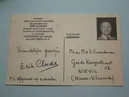 ERIK CLERCKX Lijstduwer ( 31ste Plaats ) Op LIJST NIEVIL Nr. 12 Anno 19 Oktober 19?? ( Zie Foto Voor Details ) !! - Hommes Politiques & Militaires