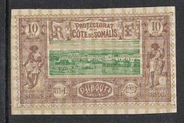 COTE DES SOMALIS N°10 N* - Côte Française Des Somalis (1894-1967)