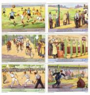 Chromo- Liebig  -Allemagne-Deutschland - Lot 6 Chromos- Sport- Cyclisme -Tir -Football - Boule - Unclassified