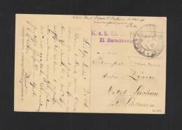 AK Gibiltera Gibraltar KUk Marinefeldpost Pola 1916 - 1850-1918 Imperium