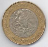 MESSICO 10 PESOS 1998 BIMETALLICA - Messico