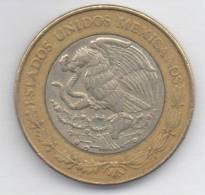 MESSICO 10 PESOS 1999 BIMETALLICA - Messico