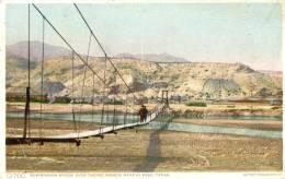 Suspension Bridge Over The Rio Grande Near El Paso - Texas - El Paso