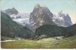 Rosenlaul Well - Und Wetterhorn   Suisse     AK  1908 - BE Berne