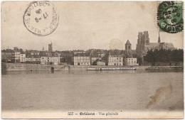 45 - Orléans - Vue Générale - ThG N° 557 (circulée 1908) - [école De Natation - Quai - Loire - Cathédrale] - Orleans