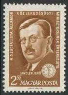 Hungary Ungarn 1961 Mi 1771 A ** Jenö Landler (1875-1928) Minister Of Communications /  Gewerkschaftsfunktionär - Treinen