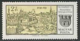 Hungary Ungarn 1971 Mi 2646 A ** Buda (1470)  Coat Of Arms / Stadtwappen / Armoiries - Francobolli