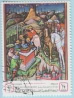 1968 - YEMEN - Y&T 252A - Libro D'Ore Visconti (1420) - Yémen
