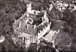CPSM VEAUCE ALLIER VUE GENERALE DU CHATEAU EN AVION AU DESSUS DE LAPIE 1960 - Francia