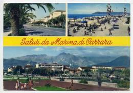 Italie--CARRARA--Saluti Da Marina Di Carrara--vues Diverses--cpm N° 15 éd Ellebici - Carrara