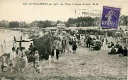 N°25917 -cpa Le Pouliguen -la Plage à L'heure Du Bain- - Le Pouliguen