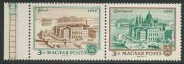 Hungary Ungarn 1972 Mi 2809 /10 A ** Pest (1872) + Parliament Buildings Budapest (1972) - Postzegels