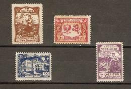 CENTRAL LITHUANIA - 1922 NATIONAL PARLIAMENT SET OF 4 MH *  Mi 44-7;  Sc 45-48 - Lituania
