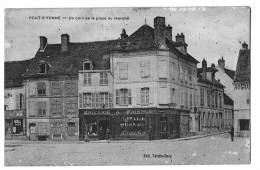 CpaPONT SUR YONNEUn Coin De La Place Du Marché 1916 ( 89b09 ) - Pont Sur Yonne