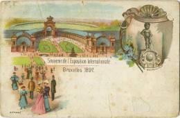 Bruxelles :  Souvenir De  (  Litho )  Manneken Pis  1897 - Bruxelles-ville