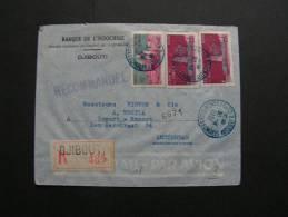 == Somalia, Indochine Bank To Amsterdam  R-cv.1951 - Französich-Somaliküste (1894-1967)
