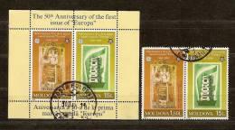 Moldova Moldavie 2005 Yvertn° Bloc 35 Et Timbres Du Bloc (°) Used Cote 39 Euro Cept Europa - Moldavie
