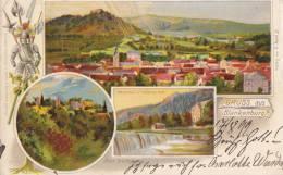 Gruss  Aus Blankenburg I.T., LITHOGRAPHIE, Rüstung, Hellebarde U.a., Ruine Greifenstein, Wasserfall,  1899 - Ausrüstung
