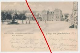 PostCard - 1898 - Smržovka Morchenstern Morchelstern - Neuer Marktplatz - Sudeten
