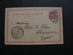 ==  Egypt , Fine Card Cairo Alexandria 1897 - Zimbabwe (1980-...)
