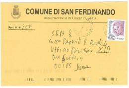 SAN FERDINANDO 89026  PROV. CALABRIA  - ANNO 2004  - LS  - STORIA POSTALE DEI COMUNI D´ITALIA - POSTAL HISTORY - Affrancature Meccaniche Rosse (EMA)