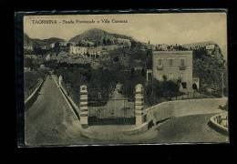 TAORMINA  ETNA   MESSINA  CARTOLINA FORMATO PICCOLO  FINE  800  / 900      VIAGGIATA - Messina