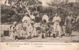 La Grande Guerre 1914-15 - EN CHAMPAGNE - Nos Braves Tirailleurs Indigènes Au Front - La Popotte (Carte Animée, Bon état - Weltkrieg 1914-18