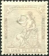 Edifil 138t 1 Pts Lila De 1873 Usado Taladro Sin Desprender - Gebraucht