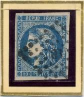 N°46 BORDEAUX BLEU FONCE OBLITERATION I.B. A VOIR!!! - 1870 Bordeaux Printing