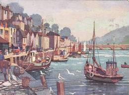 LOOE HARBOUR.  ANNE CROFT - England