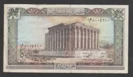 Lebanon,50 Livre,Pound,1/1/1988,No´ 65d, VG. (2) - Liban