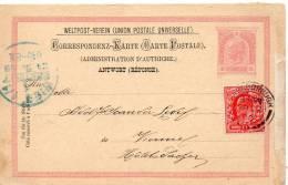 GRANDE BRETAGNE MARBOROUGH SUR ENTIER POSTAL REPONSE D'AUTRICHE 1902 - Interi Postali