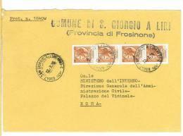 SAN GIORGIO A LIRI  03047  PROV. FROSINONE -  1979 - LS  - STORIA POSTALE DEI COMUNI D´ITALIA - POSTAL HISTORY - Affrancature Meccaniche Rosse (EMA)