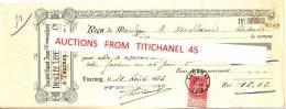 Reçu De 1903 De La Société Saint-Jean L´Evangéliste DESCLEE, LEFEBVRE & Cie à TOURNAI - Timbre 10 C Fine Barbe - Factures & Documents Commerciaux